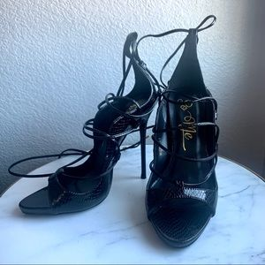 Strappy Lace Up Stilettos